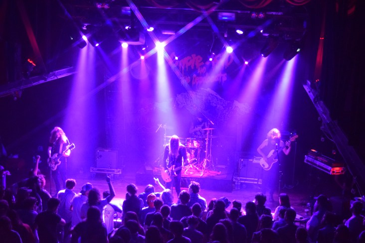 Uncle Acid & The Deadbeats from their recent stop at Terminal West (Atlanta). Pictured left to right: Yotam Rubinger (guitar/backing vocals), Kevin (K.R.) Starrs (vocals/guitar), Itamar Rubinger (drums), and Vaughn Stokes (bass/backing vocals).