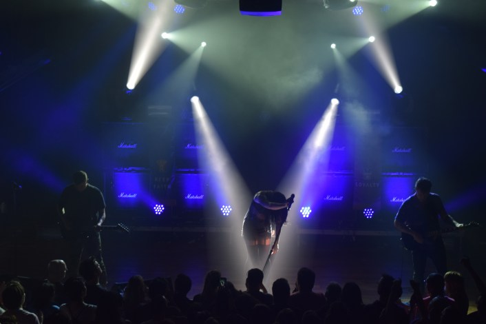 Sleigh Bells performing in front of a sold out crowd at Terminal West (Atlanta).