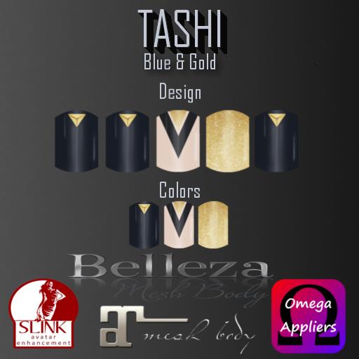 TASHI Blue & Gold