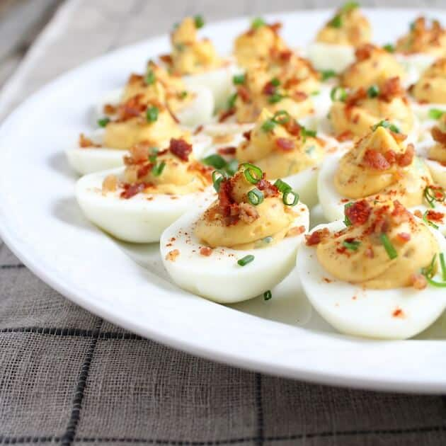 Smoky Deviled Bacon And Eggs #SundaySupper | Taste And See