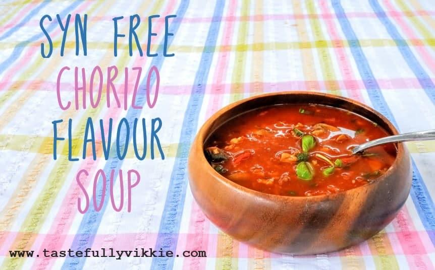 Slimming World Syn Free Chorizo Soup Recipe - Tastefully ...