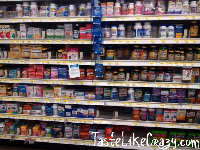 Walmart Supplement Vitamin Aisle