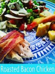 Recipe: Roasted Bacon Chicken with Thyme Garlic Yukon Gold Potatoes and Baby Carrots