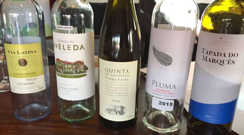 vinho verde bottles