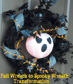 DIY Day: Remake an old wreath into a Spooky wreath