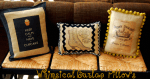 More Burlap Projects: Whimsical Burlap Pillows