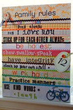 Another Family Rules Canvas