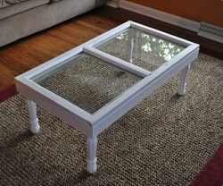 Guest Project: Make an old Window into a Coffee Table!