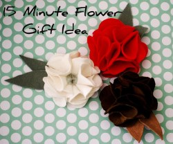 $1 Leather or Felt Flower Gift Idea with template