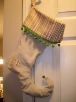 Guest Post – Make Drop Cloth Elf Stockings!!