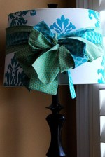 Stenciled Damask Lampshade {Tutorial}