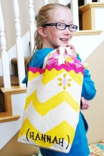 Kids Project — make an easy Summertime Chevron (zig zag)Tote!