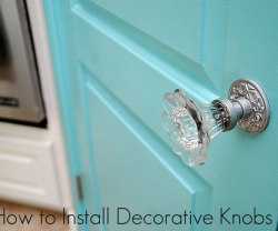 How to Install Decorative Doorknobs {Kitchen Sneak Peek}!!