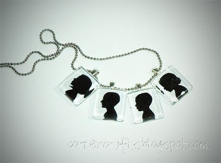 pendants silhouette necklace charm glass tile scrabble custom personalized etsy children multiple36_edit