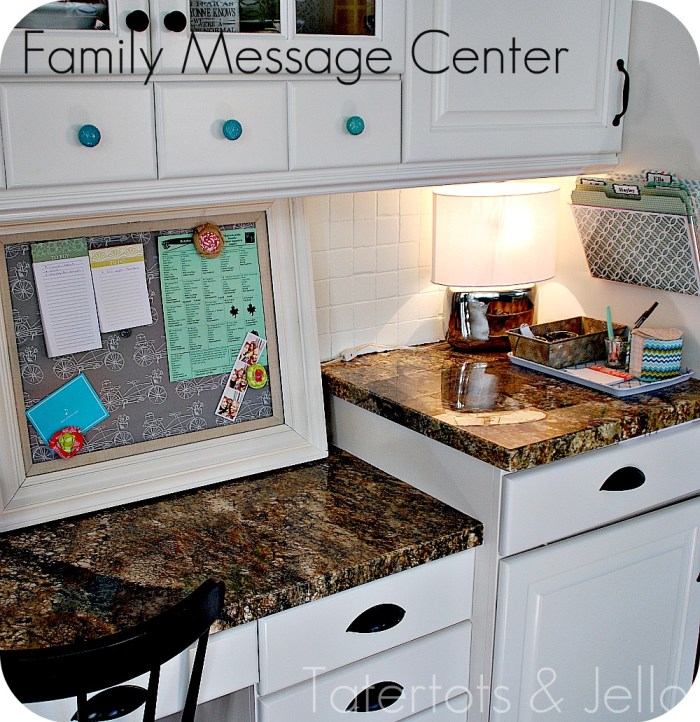 Getting Organized -- My Family Message Center {take Two
