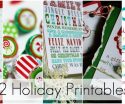 Great Ideas — 22 Free Holiday Printables!!