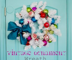 vintage ornament wreath header