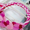 Valentine Chevron and Glitter Wreath