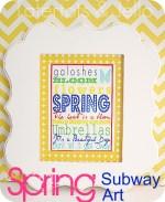 """Beautiful Day"" Spring Subway Art (free printable)"