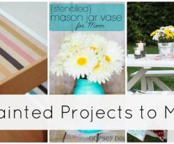 Great Ideas — 20 Painted Projects to Bring Color to YOUR Home!!