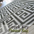 painted greek key rug tutorial