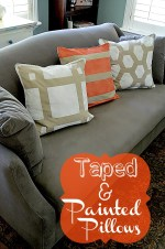 Easy Decorating DIY — Make Taped and Painted Pillows in ANY Pattern!!