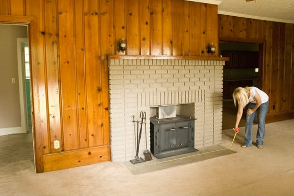 10 fireplace before and after diy projects Ways to update wood paneling
