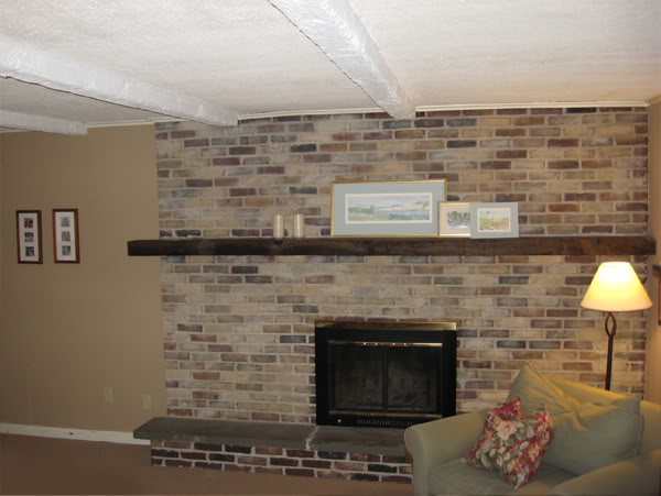 10 fireplace before and after diy projects Brick fireplace wall decorating ideas