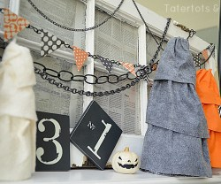Make Halloween Ruffle Trees (tutorial)