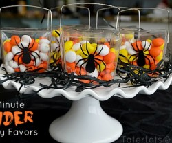 Tatertots & Jello: 10 minute spider party favors