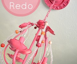 Tatertots and Jello - Easy Chandelier Redo