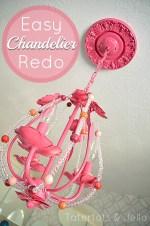 $8 Chandelier Redo (Hannah's Room Update)