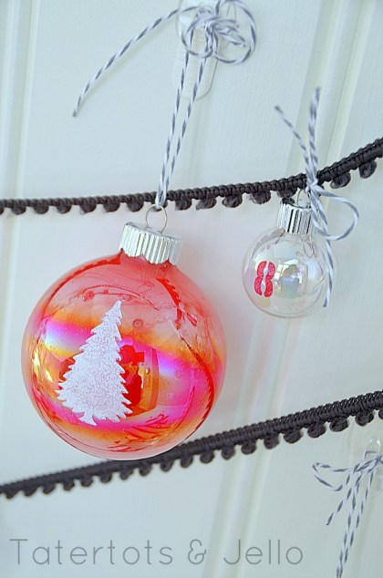 Painted Glass Advent Calendar