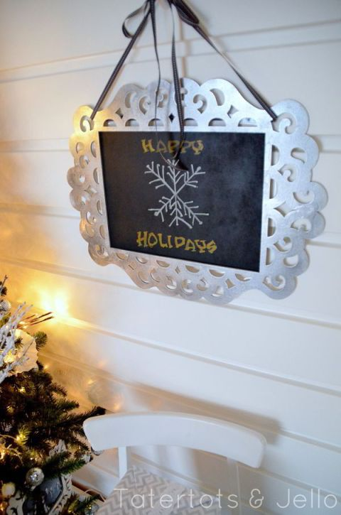 tatertots and jello chalkboard holiday frame