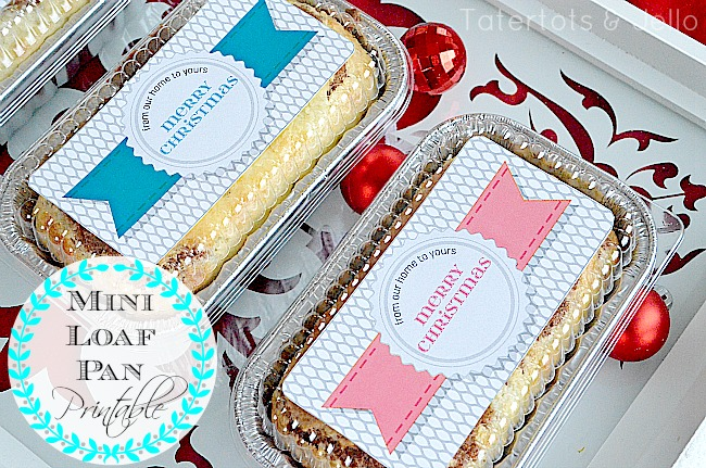 Free Holiday Gift Tags - Loaf Pan from tatertots & jello