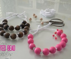 easy painted bead necklaces
