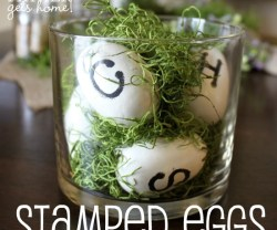 DIY Stamped Eggs for Spring or Easter Decorating!