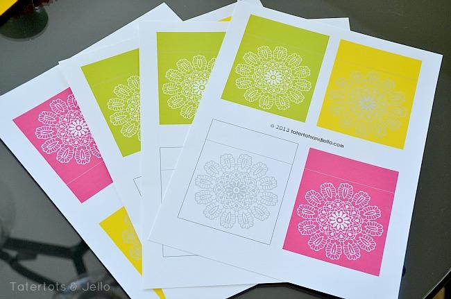 cinco de mayo printable sheets at Tatertots & Jello