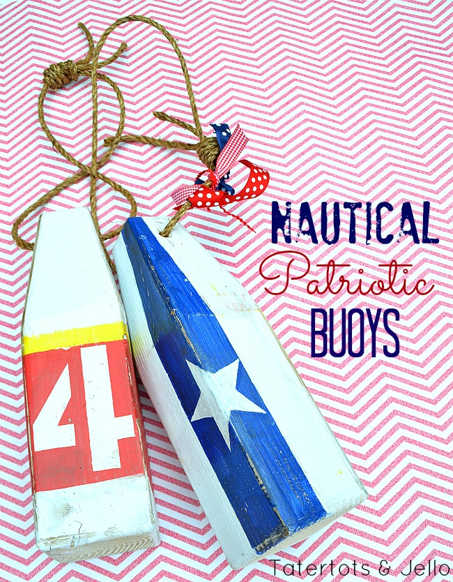 diy patriotic nautical buoys