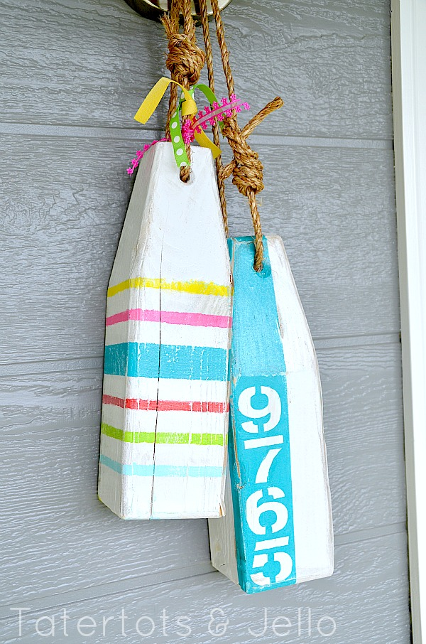 diy wooden buoys at tatertotsandjello.com