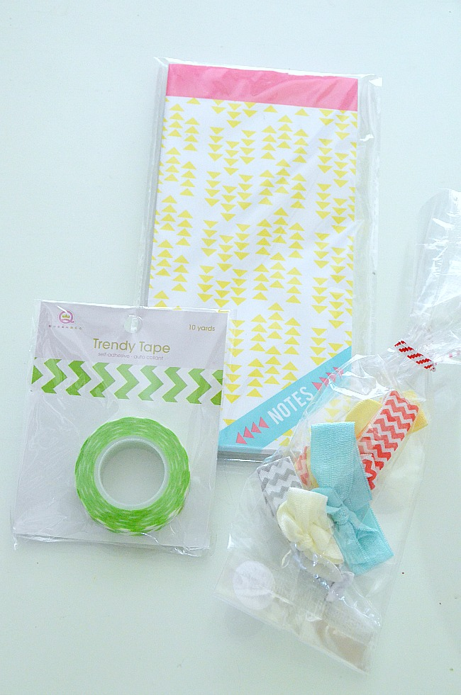 hair ties and washi tape