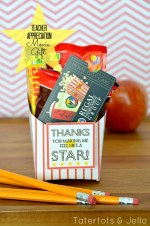 End of the Year Teacher Gift:  Movie Card Gift Idea and Free (Fry Box) Printables!