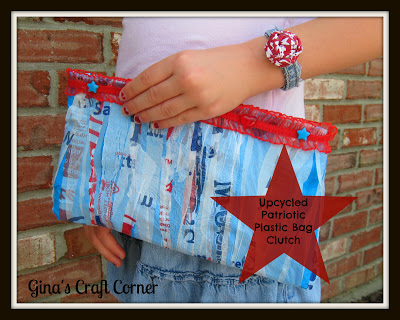 plastic bag clutch