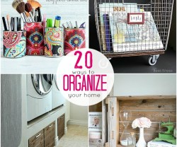 20 ways to organize your home