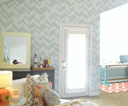 scattered herringbone wall vinyl
