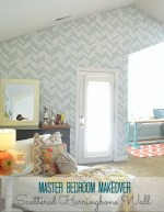 Master Bedroom Details – How to Make a Herringbone Wall!