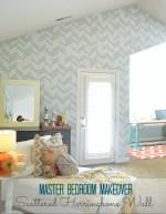 Master Bedroom Details – How to Make a Herringbone Wall!