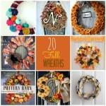 Great Ideas — 20 DIY Fall Wreaths!