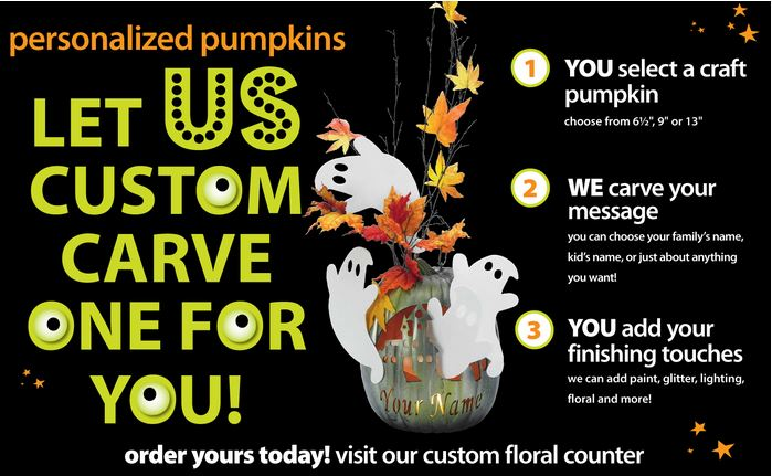michaels custom carved pumpkins