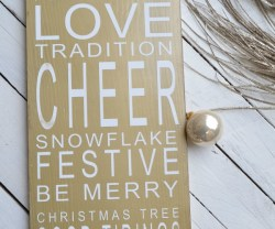 Ballard Designs Christmas Holiday Sign Knock-Off!